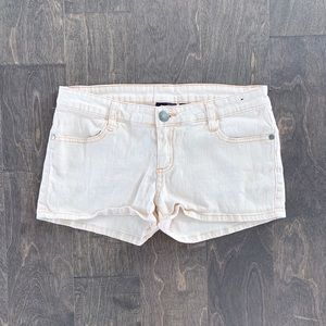 City Streets Peach Jean Shorts